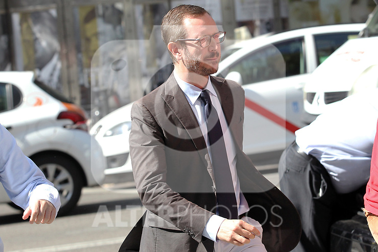 Javier Maroto, the spokesman for the Partido Popular in the Senate, at the headquarters of the PP before the meeting of the Steering Committee on September 3, 2019 in Madrid, Spain.(ALTERPHOTOS/ItahisaHernandez)