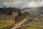 Rainbow at Machu Picchu, Peru. © Michael Brands. 970-379-1885.