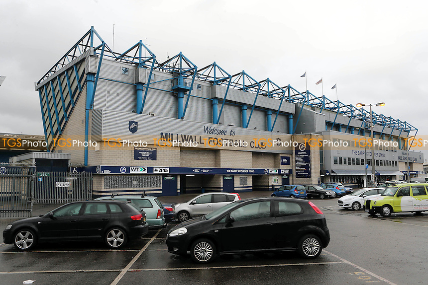 General view of the outside of 'The Den' and entrance to the Main Stand taken from the car park during Millwall vs Peterborough United, Sky Bet EFL League 1 Football at The Den on 28th February 2017