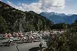 Riders climb Col de Madeleine during Stage 12 of the 2018 Tour de France running 175.5km from Bourg-Saint-Maurice les Arcs to Alpe D'Huez, France. 19th July 2018. <br /> Picture: ASO/Pauline Ballet | Cyclefile<br /> All photos usage must carry mandatory copyright credit (&copy; Cyclefile | ASO/Pauline Ballet)