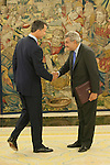 King Felipe VI of Spain receives Deputy Congress President Jesus Posada during an audience at Zaruzela Palace in Madrid, Spain. June 23, 2013. (ALTERPHOTOS/Victor Blanco)