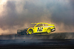 #12 Ryan Blaney  during NASCAR's Burnout Blvd. Driven By Goodyear