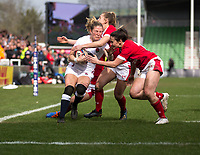 England Women's Lydia Thompson  in action during todays match<br /> <br /> Photographer Bob Bradford/CameraSport<br /> <br /> 2020 Women's Six Nations Championship - England v Wales - Saturday 7th March 2020 - The Stoop - London<br /> <br /> World Copyright © 2020 CameraSport. All rights reserved. 43 Linden Ave. Countesthorpe. Leicester. England. LE8 5PG - Tel: +44 (0) 116 277 4147 - admin@camerasport.com - www.camerasport.com