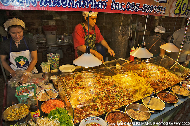 Street food at the Night Market in Chiang Mai.