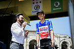 French Champion Warren Barguil (FRA) Arkea-Samsic at sign on before the start of Stage 16 of the 2019 Tour de France running 177km from Nimes to Nimes, France. 23rd July 2019.<br /> Picture: ASO/Pauline Ballet | Cyclefile<br /> All photos usage must carry mandatory copyright credit (© Cyclefile | ASO/Pauline Ballet)