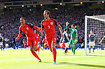 England's Harry Kane celebrates scoring his sides second goal during the FIFA World Cup Qualifying match at Hampden Park Stadium, Glasgow Picture date 10th June 2017. Picture credit should read: David Klein/Sportimage