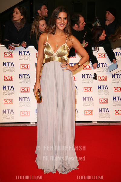 Amanda Byram arriving for the National Television Awards, O2, London. 25/01/2012 Picture by: Alexandra Glen / Featureflash