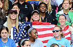 The Hague, Netherlands, June 14: Fans of USA during the field hockey bronze medal match (Women) between USA and Argentina on June 14, 2014 during the World Cup 2014 at Kyocera Stadium in The Hague, Netherlands. Final score 2-1 (2-1)  (Photo by Dirk Markgraf / www.265-images.com) *** Local caption ***