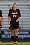 04 October 2014: Louisville's Kaela Dickerman. The Duke University Blue Devils hosted the University of Louisville Cardinals at Koskinen Stadium in Durham, North Carolina in a 2014 NCAA Division I Women's Soccer match. The game ended in a 0-0 tie after double overtime.