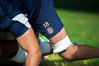 A general view of the Bath Rugby badge. Bath Rugby pre-season training session on August 9, 2016 at Farleigh House in Bath, England. Photo by: Patrick Khachfe / Onside Images