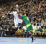 11.01.2019, Mercedes Benz Arena, Berlin, GER, BRA vs. FRA, im Bild <br /> Jose Toledo (BRA #10), Cedric Sorhaindo (FRA #10)<br /> <br />      <br /> Foto &copy; nordphoto / Engler