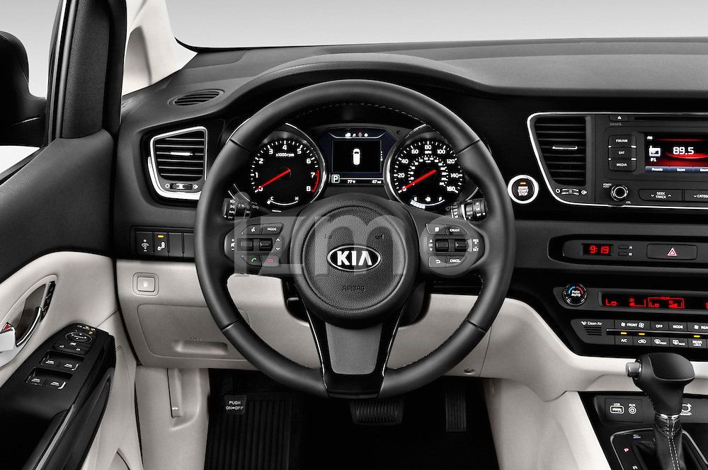 Car pictures of steering wheel view of a 2015 KIA Sedona EX 5 Door Minivan Steering Wheel