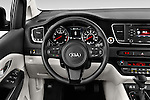 Car pictures of steering wheel view of a 2015 KIA Sedona EX 5 Door Minivan Steering Wheel