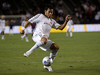 LA Galaxy forward Carlos Ruiz (20) traps a ball in the box. The Colorado Rapids defeated the LA Galaxy 1-0 during the preliminary rounds of the 2008 US Open Cup at Home Depot Center stadium in Carson, Calif., on Tuesday, May 27, 2008.