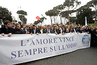 Ministri e parlamentari del Popolo della Liberta' durante la manifestazione a Roma, 20 marzo 2010..People of Freedom center-right party's ministers and lawmakers take part in a rally promoted by their party in Rome, 20 march 2010..UPDATE IMAGES PRESS/Riccardo De Luca