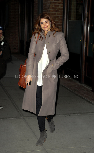 WWW.ACEPIXS.COM....January 17 2013, New York City....Actress Gemma Arterton leaves a downtown hotel on January 17 2013 in New York City......By Line: Curtis Means/ACE Pictures......ACE Pictures, Inc...tel: 646 769 0430..Email: info@acepixs.com..www.acepixs.com