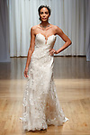 Model walks runway in a Pixie gown from the Casablanca Bridal collection at the Casablanca Bridal 20th anniversary celebration runway show, on October 8, 2017; during New York Bridal Fashion Week Spring 2018.