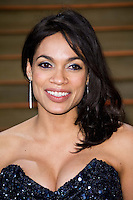 Rosario Dawson arriving for the 2014 Vanity Fair Oscars Party, Los Angeles. 02/03/2014 Picture by: James McCauley/Featureflash
