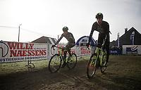 Sven Nys (BEL/Crelan-AAdrinks) &amp; Sven Vanthourenhout (BEL/Crelan-AADrinks) at recon<br /> <br /> GP Sven Nys 2016