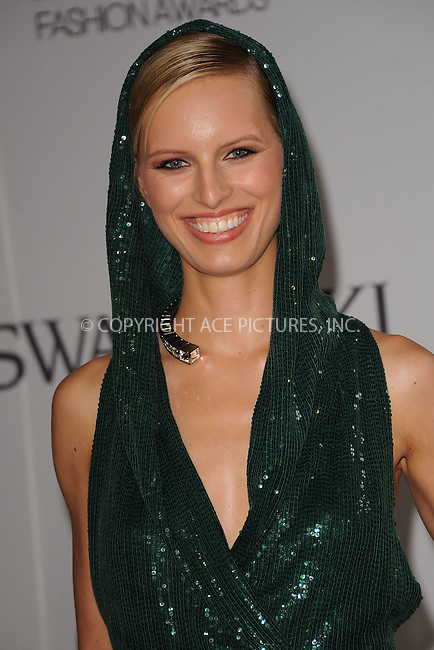 WWW.ACEPIXS.COM . . . . . .June 6, 2011...New York City.....Karolina Kurkova attends the 2011 CFDA Fashion Awards at Alice Tully Hall, Lincoln Center on June 6, 2011 in New York City......Please byline: KRISTIN CALLAHAN - ACEPIXS.COM.. . . . . . ..Ace Pictures, Inc: ..tel: (212) 243 8787 or (646) 769 0430..e-mail: info@acepixs.com..web: http://www.acepixs.com .
