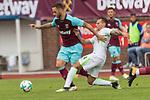 29.07.2017, Fritz Detmar Stadion, Lohne, GER, FSP SV Werder Bremen (GER) vs WestHam United (ENG), <br /> <br /> im Bild<br /> <br /> Niklas Moisander (Werder Bremen #18)<br /> Robert Bauer (Werder Bremen #4)<br /> <br /> Foto &copy; nordphoto / Kokenge