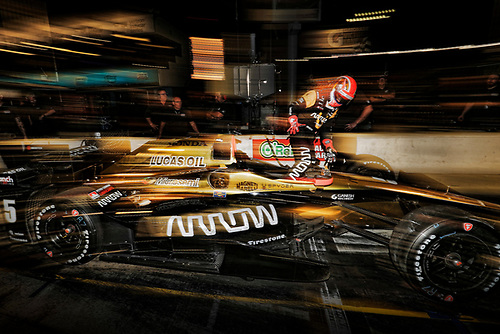 2017 IndyCar Media Day - Track Action<br /> Phoenix Raceway, Arizona, USA<br /> Saturday 11 February 2017<br /> James Hinchcliffe<br /> World Copyright: Michael L. Levitt/LAT Images<br /> ref: Digital Image _AT_3987