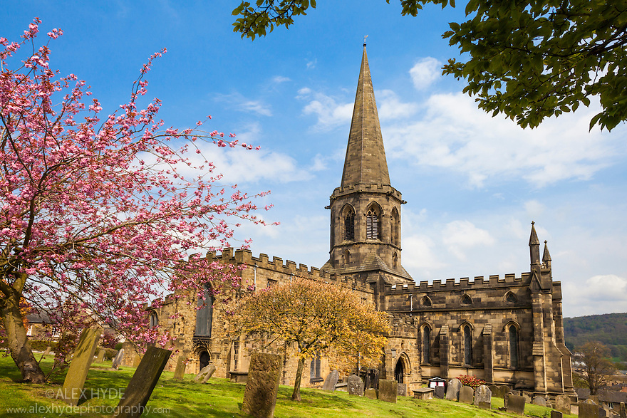 All Saints' Parish Church, Bakewell, Peak District National Park, UK. May.