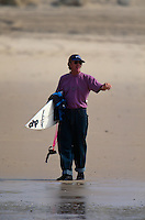 1992 ISA World Surfing Titles Lacanau, France. Australian coach Wayne 'Rabbit' Bartholomew (AUS).  Photo: joliphotos