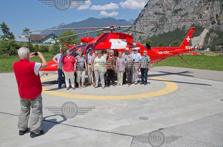 Swiss air ambulance operator Rega. <br /> <br /> (photo: Fredrik Naumann/Felix Features)
