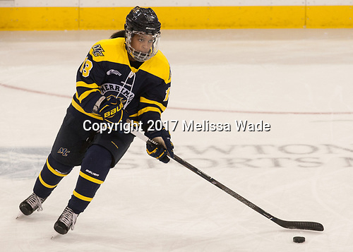 Mikyla Grant-Mentis (Merrimack - 13) - The number one seeded Boston College Eagles defeated the eight seeded Merrimack College Warriors 1-0 to sweep their Hockey East quarterfinal series on Friday, February 24, 2017, at Kelley Rink in Conte Forum in Chestnut Hill, Massachusetts.The number one seeded Boston College Eagles defeated the eight seeded Merrimack College Warriors 1-0 to sweep their Hockey East quarterfinal series on Friday, February 24, 2017, at Kelley Rink in Conte Forum in Chestnut Hill, Massachusetts.