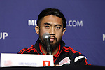 05 December 2014: New England Revolution's Lee Nguyen. Major League Soccer held a press conference at the StubHub Center in Carson, California two days before the Los Angeles Galaxy hosted the New England Revolution in MLS Cup 2014.