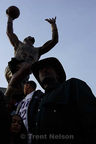 . Karl Malone statue ceremony at the Delta Center.&amp;#xA;3.23.2006<br />