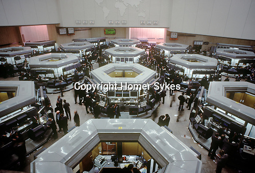 Stock Brokers in the London Stock Exchange City of London. Circa 1990.