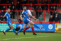 Danny Newton of Stevenage scores the first goal for his team during Stevenage vs Notts County, Sky Bet EFL League 2 Football at the Lamex Stadium on 11th November 2017