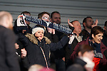 Ross County fans celebrate as their team climbs away from the bottom of the table