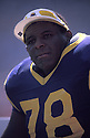Los Angeles Rams Jackie Slater (78)  during a game from career with the Rams.  Jackie Slater played for 20 years all with the Rams. He was a 7-time Pro Bowler and was inducted to the Pro Football Hall of Fame in 2001.