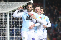 Blackburn Rovers Danny Graham celebrates scoring his sides first goal <br /> <br /> Photographer Mick Walker/CameraSport<br /> <br /> The EFL Sky Bet Championship - Blackburn Rovers v Ipswich Town - Saturday 19 January 2019 - Ewood Park - Blackburn<br /> <br /> World Copyright &copy; 2019 CameraSport. All rights reserved. 43 Linden Ave. Countesthorpe. Leicester. England. LE8 5PG - Tel: +44 (0) 116 277 4147 - admin@camerasport.com - www.camerasport.com
