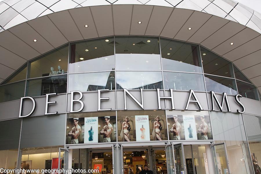 Debenhams department store shop, Bury St Edmunds, Suffolk, England