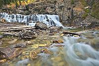Autumn at Granite Creek Falls, Bondurant, Wyoming,