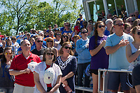 Kansas City, MO - Saturday May 13, 2017: Fans prior to the national anthem prior to a regular season National Women's Soccer League (NWSL) match between FC Kansas City and the Portland Thorns FC at Children's Mercy Victory Field.