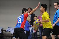 KORFBAL: AKKRUM: 01-04-2015, Internationaal Korfbal, China tegen Brazilie, ©foto Martin de Jong