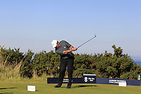 Chris Goodwin (AM) on the 8th tee during Round 1 of the 2015 Alfred Dunhill Links Championship at Kingsbarns in Scotland on 1/10/15.<br /> Picture: Thos Caffrey | Golffile