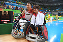 (L-R) Yukinobu Ike, Daisuke Ikezaki (JPN), <br /> SEPTEMBER 18, 2016 - WheelChair Rugby : <br /> 3rd place match Japan - Canada  <br /> at Carioca Arena 1<br /> during the Rio 2016 Paralympic Games in Rio de Janeiro, Brazil.<br /> (Photo by AFLO SPORT)