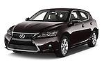 2015 Lexus CT Executive 5 Door Hatchback 2WD Angular Front stock photos of front three quarter view
