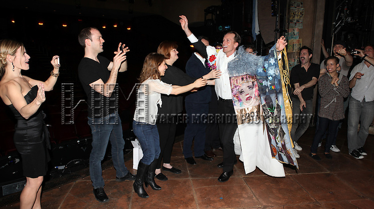 Matt Wall with Elena Roger, Max von Essen & Company.attending the Broadway Opening Night Actors' Equity Gypsy Robe Ceremony for recipient Matt Wall in 'EVITA' at the Marquis Theatre in New York City on 4/6/2012