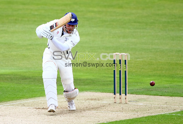 PICTURE BY VAUGHN RIDLEY/SWPIX.COM...Cricket - County Championship - Yorkshire v Warwickshire, Day 1 - Headingley, Leeds, England - 23/08/11...Yorkshire's Joe Sayers hits out.