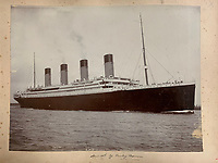 BNPS.co.uk (01202 558833)<br /> Pic: HAldridge/BNPS<br /> <br /> An incredibly rare photograph that was taken on board the Titanic while the liner was on he doomed maiden voyage has surfaced.