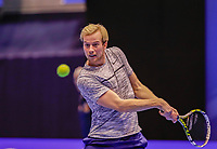 Rotterdam, Netherlands, December 15, 2017, Topsportcentrum, Ned. Loterij NK Tennis, Doubles: Botic van de Zandschulp (NED)<br /> Photo: Tennisimages/Henk Koster