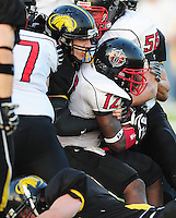 The Madison Mustangs top the Muskego Hitmen 44-7 to win the IFL conference championship on Saturday, 8/21/10, at Breitenbach Stadium in Middleton, Wisconsin