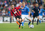 St Johnstone v FC Spartak Trnava...31.07.14  Europa League 3rd Round Qualifier<br /> Jose David Casado-Garsia and David Wotherspoon<br /> Picture by Graeme Hart.<br /> Copyright Perthshire Picture Agency<br /> Tel: 01738 623350  Mobile: 07990 594431